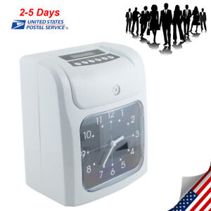 Office Electronic Time Clock Card Machine Employee Work Hours Recorder From Us