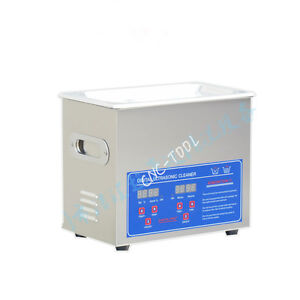 Ps 20a Digital Lcd Ultrasonic Cleaner Stainless Steel W 3 2l Tank 110v