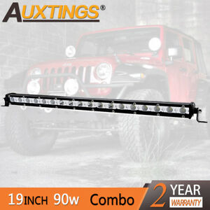 Super Mini 20inch 90w Led Light Bar Combo Single Row Work Driving Lights 4x4 Suv