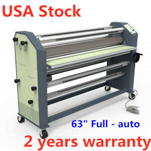 Usa Stock 63 Full auto Wide Format Hot Laminator Machine With Free Film