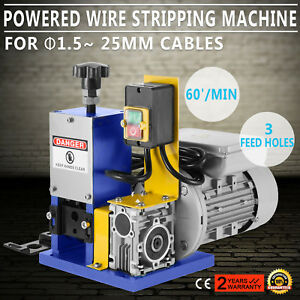 Portable Powered Electric Wire Stripping Machine Metal Recycle 1 5 25mm 1 4hp