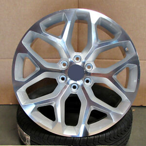 26x10 6x139 7 Et31 Silver Machined Face Wheels Set Of 4 Rims Fit Chevy Gmc