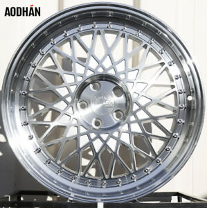 Aodhan Ah05 18x8 5 9 5 5x114 3 Et12 15 Silver Machined Lip Staggered Wheel Set