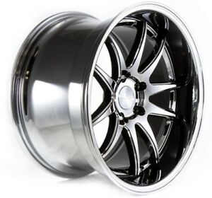 Aodhan Ds02 18x9 5 10 5 5x114 3 Et15 Black Vacuum Staggered Wheel Set