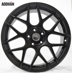 Aodhan Ls002 19x8 5 9 5 5x112 Et35 Matte Black Staggered Wheel Set