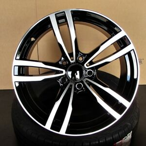 Bmw Oe Style 19x8 5 9 5 5x120 Et35 37 Black Machined Face Staggered Wheel Set