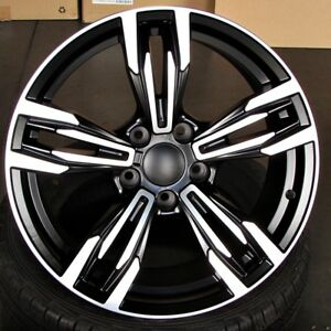 M3 M4 Style 20x8 5 9 5 5x120 Et35 37 Black Machined Wheel Set Fit Bmw F30 335i