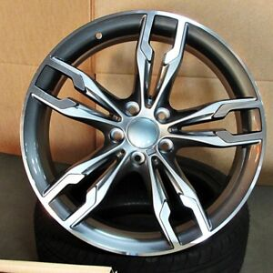 6 Series Style 19x8 5 9 5 5x120 Et35 38 Gunmetal Mf Staggered Wheel Set Fit Bmw