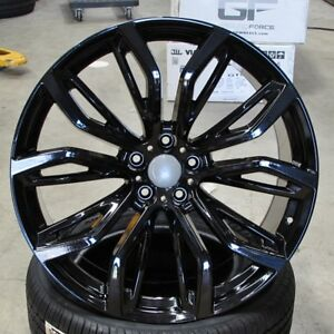 Bmw X6 M Style 20x10 20x11 Gloss Black Wheels Set Of 4 Fit E70 X5