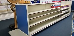 Retail Store Fixtures 12 Foot Gondola In 4 Foot Sections Shelves Used
