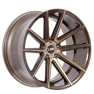 F1rf27 20x8 5 5x114 3 35et Machined Bronze Wheels Fit Ford Mustang Boss 302