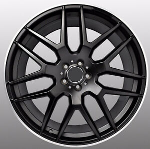 Mercedes Gl63 Style 22x10 5x112 Et50 Satin Black Machined Line Wheels Set Of 4
