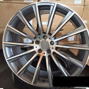 Mb S Class Style 19x8 5 9 5 5x112 Et35 38 Gunmetal Machined Face Staggered Wheel