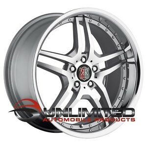 Roderick Rw2 20x8 5 10 5x4 5 Et25 Machined Silver Wheels Fit Ford Mustang 94 04