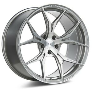 Rohana Rfx5 20x10 12 5x4 5 Et22 Brushed Titanium Wheels Fit Ford Mustang 15 Str