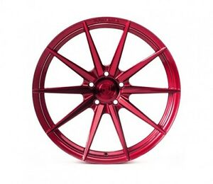 Rohana Rf1 20x9 10 5x114 Et35 45 Gloss Red Wheels Rims Fit Nissan 370z Nismo
