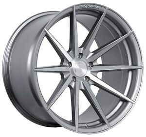 Rohana Rf1 20x9 10 5x114 Et35 45 Brushed Titanium Wheels Fit Nissan 370z Nismo