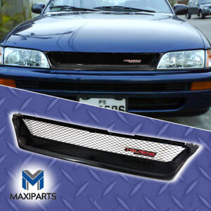 93 97 Toyota Corolla Jdm Style Grill Metallic Front Upper Hood Mesh Grille