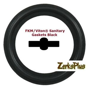 Sanitary Gasket Tri Clamp Style 8 Viton Black Price For 1 Pc