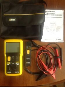 Aemc 1045 Digital Megohmmeter W remote Test Probe Test Leads User Manual case