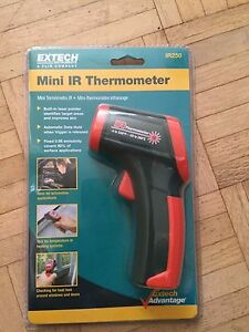 Extech Ir250 Mini Ir Thermometer Range 500 Degrees F 260 Degrees C