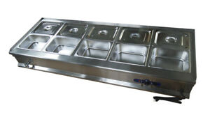 10 pan Food Warmer Bain Marie Steam Table110v With 10 1 2pans