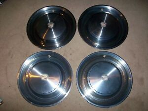 1973 73 Cadillac Smoothy 4 15 Hubcaps Wheel Covers Rat Hot Rod 70 71 72 74 75