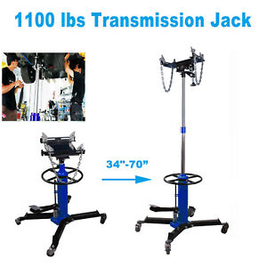 A 1100lbs 2 Stage Hydraulic Transmission Jack 360 Swivel Wheels For Car Liftl