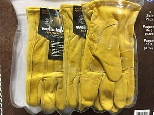 Wells Lamont Leather Work Glove 0ne Pack 3 Pairs