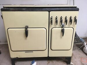 Vintage Antique Yellow Chambers Model A Gas Stove Range