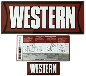 Snowplow Blade Decals Western Uni Mount Factory Original