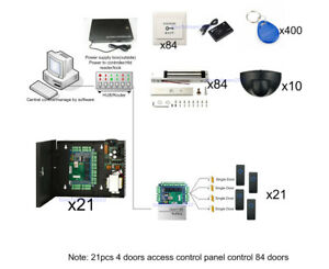 84 Doors Ip Access Control System Kit Magnetic Lock Power Box Exit Motion Sensor
