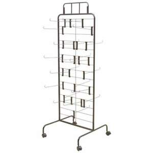 Multi level 2 sided Peg Hook 67 Retail Display Rack Stand With 24 Hooks Total