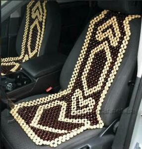 Therapy Wooden Beaded Massage Vehicle Car Seat Cover Chair Cushion Rolling New
