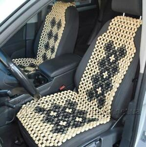 Cover Therapy Wooden Beaded Massage Vehicle Car Seat Chair Cushion Rolling New