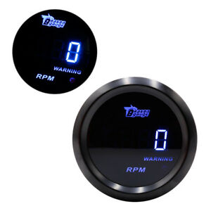 Car Auto Parts 2 Inch 52mm Tacho Tachometer Gauge Digital Gauge Blue Light Sh2