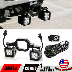 3in 16w Led Pod Light Bar backup Reverse Tow Hitch Fit Chevy Silverado Truck Suv