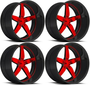 22 Inch Pro Wheels Spit Fire 5 Custom Rims Us Mags American Racing Foose