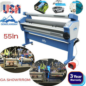 Upgraded 55 Entry Level Full auto Heat Assisted Wide Format Cold Roll Laminator