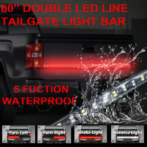 60 Tailgate Led Truck Bar No Drilling Turn Signal Back Up Brake Light For F 150