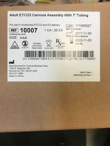 Adult Etco2 Cannula Assembly 7 Tubing 10007