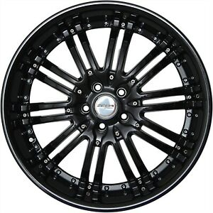 4 Gwg Wheels 20 Inch Staggered Black Narsis Rims Fits Lexus Gs 300 Awd 2006