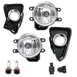 Pair Of Clear Driving Fog Lamp Lights Wiring Set For Toyota Rav4 2016 2018