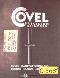 Covel 94 98 Aec 9tt Lathes Installation And Maintenance Manual