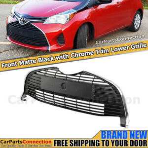 Front Lower Bottom Center Grille For Toyota Yaris Hatchback 2015 2018 Unpainted