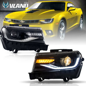 For Chevy Camaro 2014 2015 Led Headlights Ls Lt Ss Model Drl Projector Headlight