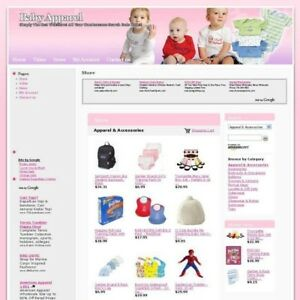 Established Online Baby Apparel Shop Business Website For Sale Free Hosting Now
