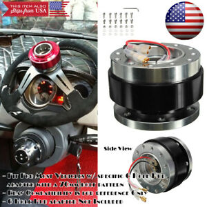 Ball Bearing Detachable Black Steering Wheel Quick Release Hub For Vw Porsche