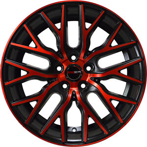 4 Wheels 20 Inch Stagg Black Red Flare Rims Fits Ford Shelby Gt 500 2007 2018