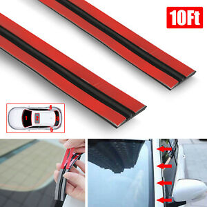 10ft 3m Car Door Windshield Trim Edge Moulding Weatherstrip Seal Strip Protector